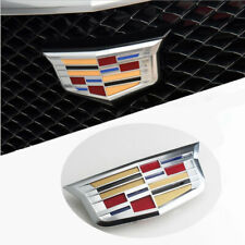 New Silver ATS XTS CT5 CT6 Front Grille Grill Emblem Badge Decal for Cadillac