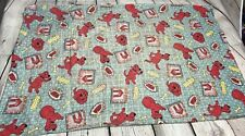 """Vintage Hand Made Clifford the Big Red Dog Pillow Case 20"""" x 30"""" ~*~ L@@K"""