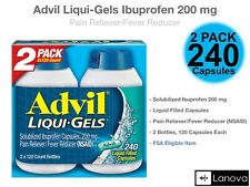 Advil Liqui-Gels Ibuprofen 200 mg., Pain Reliever/Fever Reducer 240 Capsules