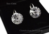 925 Sterling Silver Earrings Crystal (Clear) Rivoli Crystals from Swarovski®