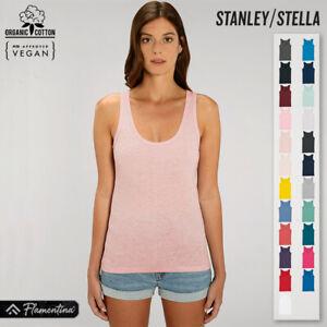 Womens Organic Cotton Dreamer Iconic Tank Top Stanley Stella Deep Scoop Vest