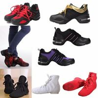 Women Jazz Hip Hop Ballet Dance Shoes Split Sole Sport Trainers Ballroom Sneaker
