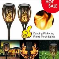 4Pcs Solar LED Lights Flickering Landscape Lamps Dancing Flame Torch Garden