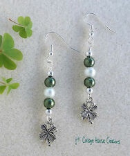 Shamrock Clover  ~ DIY  Earring Jewelry Making Step by Step Instruction Kit