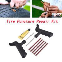 Car Van Motorcycle Emergency Tubeless Tyre Tire Puncture Repair Kit Tool Strips