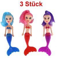 3 Stück Meerjungfrau Puppe Kindergeburtstag Mitgebsel Spielzeug Puppen Mädchen