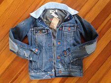 D8 NEW Madewell B-Sides Distress Reworked Denim Jacket XXS Jean Coat Jcrew