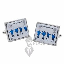 """The  Beatles """"Help"""" Album Cover Postage Stamp Cufflinks"""