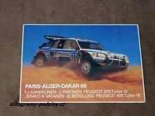 1988 PEUGEOT 205 Turbo 16 Juha Kankkunen, Paris-Dakar - Sticker/Aufkleber