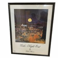 GIRLS NIGHT OUT POSTER SIGNED BY ARTIST WILL MOSES Halloween Witches Artwork