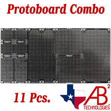 11 Pcs Black Pcb Proto Perf Boards Double Sided Combo Pack