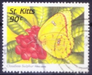St. Kitts 1997 used, Cloudless sulphur Butterflies, insects