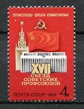 30332) RUSSIA 1982 MNH** Soviet Trade Union Congress  - 1v.