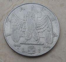 1 Lira IMPERO - Regno d'Italia 1940 - XVIII  - n. 911