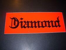 "DIAMOND SUPPLY CO 8"" Red Black Skate Sticker Font Logo skateboards helmets decal"