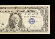 1957 One Dollar $1 Silver Certificate Blue Seal Banknotes Money Bill Nice Serial