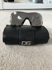 womens dolce and gabbana sunglasses Diamanté D&G Ivory Ski Glasses Ladies