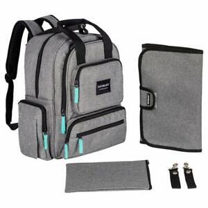 YavoBaby Diaper Bag Backpack - Large Capacity 18 Pocket Multi-Functional Unis...