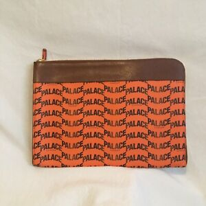 Palace Leather Document Holder Orange FW20 New Authentic