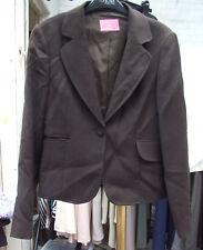 Charles Tyrwhitt UK sz 12 Fabulous Ladies Brown Blazer Short Jacket
