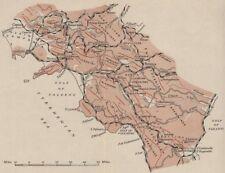 ITALIA. il APPENNINO MERIDIONALE. WW2 ROYAL NAVY Intelligence mappa 1944 Old