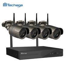Techage 4CH 1080P Wireless NVR 720P 1.0MP Wifi IP Camera HD CCTV Security System