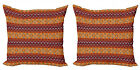 Ambesonne Tribal Cushion Cover Set of 2 for Couch and Bed in 4 Sizes