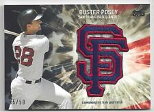 BUSTER POSEY 2017 Topps Ser 2 Independence Day Team Logo Patch Black Card #5/50
