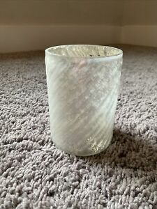 Anthropologie White Mercury Glass Candle Holder