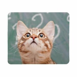 Black Cat Non Slip Mouse Mat Pad Cool Cute Orange Kitten Pattern Gaming Mousepad