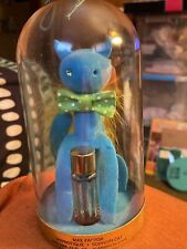 Vintage Max Factor Sophisti-Cat Blue Cat Perfume Holder In Dome