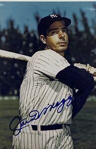 Joe DiMaggio New York Yankees Signed 4x6 Photo Autographed Auto COA