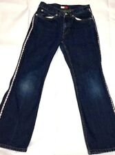 TOMMY HILFIGER Vertical Spell Out Denim Jeans Boys Youth Size 8 Vintage VTG