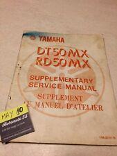 Yamaha DT50MX RD50MX RD DT 50 5R0 5N6 supplement revue technique Manuel workshop