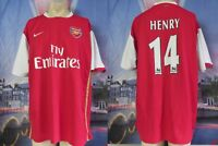 Vintage Arsenal 2006 2007 home shirt Nike football top size Henry 14 size XL