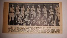 104th Infantry Division Timber Wolves Oregon 1943 Baseball Team Picture