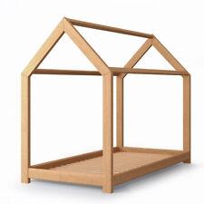 VICCO Lit pour enfants WIKI Lit d'enfant Lit Maison 90x200 bois naturel