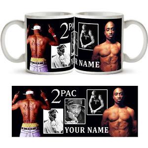 TUPAC SHAKUR 2PAC PERSONALISED Ceramic Photo Mug Cup Tea Coffee Name New Gift