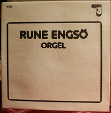 OPUS 3 LP 7707: Rune Engso, orgel - Hindemith, Bach, etc. - OOP 1978 Sweden NEW