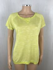 Bench Popstally Lime Green Yellow T Shirt Top New Size M