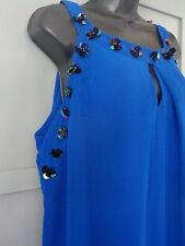 MONSOON BNWT £89 Cobalt blue embellished tunic occasions dress size 18 Candice