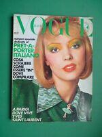 Vogue Italy April 1972 April Pret IN Porter Fashion Spring Charlotte Rampling