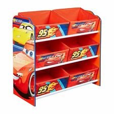 DISNEY CARS 6 BIN STORAGE UNIT ORGANISER DRAWERS GAMES TOYS KIDS