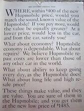 1921 Hupmobile Car Text Vintage Ad