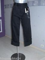 pantacourt jeans noir femme KANABEACH flave T 38 NEUF ÉTIQUETTE