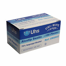 100 x Alcohol wipes - 70% Isopropyl Alcohol