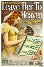 Leave her to heaven Gene Tierney vintage movie poster