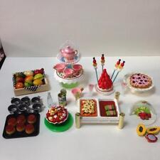Re-ment miniature princess tea party  tea stand tea cup tart fruits punch paella