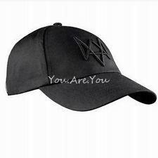 Unisex Watch Dogs Aiden Black Baseball CAP Hat Summer Costume Video Game Cosplay