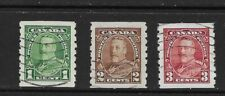 Canada 1935 George V Coil stamps used (23)
